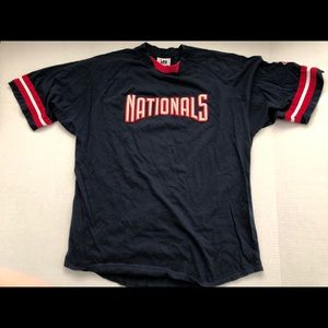 Washington Nationals NAVY Embroidered Tee Soft L